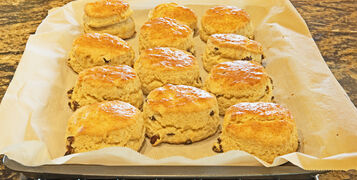 A,Tray,Of,Fresh,Baked,Homemade,Scones,Just,Out,Of