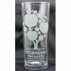 Cornish Orchards Etched Pint Glass