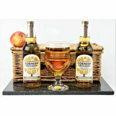 Cornish Orchards Cider & Etched Goblet Gift Set