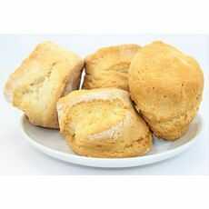 Wheat, Gluten and Dairy Free Plain Scones - suitable for Vegans (Pack of 4)