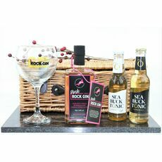 Cornish Pink Rock Gin, Tonic & Glass Hamper