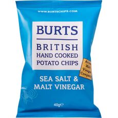 Burts Sea Salt & Malt Vinegar Potato Chips