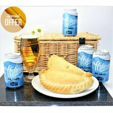 'Dreaming Of A Cornish Beach' Pasty & Offshore Pilsner Hamper