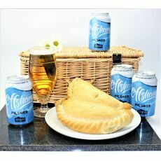 \'Dreaming Of A Cornish Beach\' Pasty & Offshore Pilsner Hamper