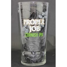 St Austell Brewery Proper Job Moulded Pint Glass