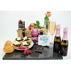 'A Raspberry Romance' Cream Tea & Prosecco Hamper