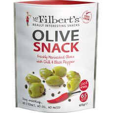 Mr Filbert's Green Olives with Chilli & Black Pepper