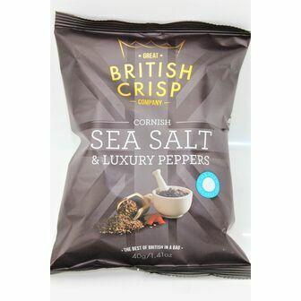 Cornish Sea Salt & Luxury Peppers Crisps