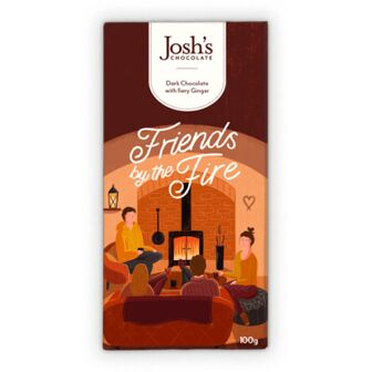 Josh's Chocolate 'Friends By The Fire' Dark Chocolate with Fiery Ginger
