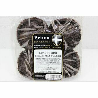Prima Bakery Luxury Mini Christmas Puddings (Pack of 4)