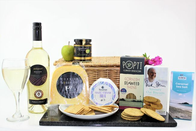 Classic Cornish Cheese & Wine Hamper