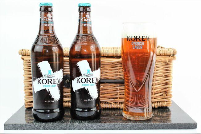Korev Pair & Branded Glass Set