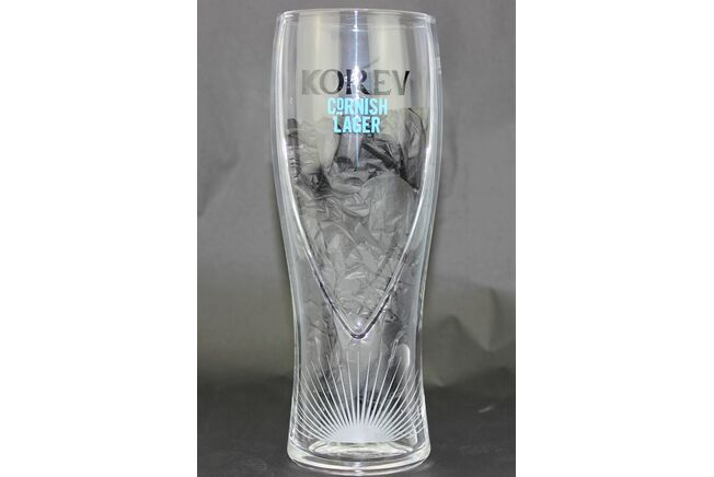 St Austell Brewery Korev Moulded Pint Glass