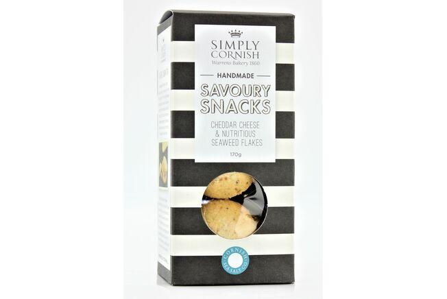 Simply Cornish Savoury Snacks - Cheddar Cheese & Seaweed Flakes